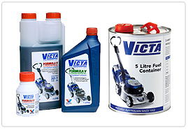 Mower Oils and Fuel Cans, Spares and Accessories by Victa